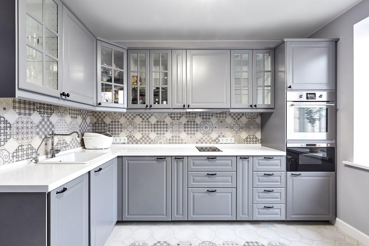 кухонный гарнитур серый фото осуществить свое
